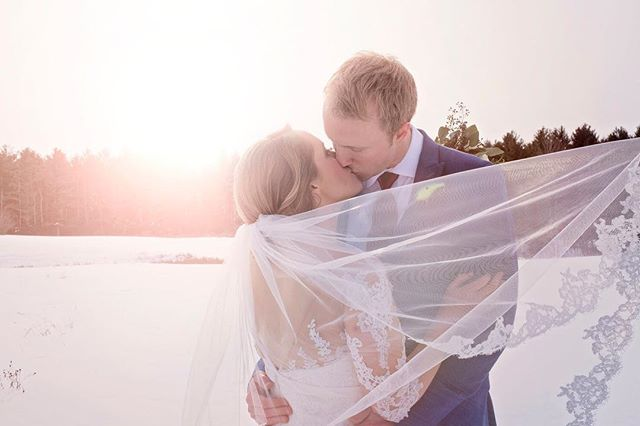 """And then he said """" I do"""" . . . #weddingdress #wedding #weddingphotography #winterwedding #weddingphotoshoot #weddingphoto #couplegoals #groom #brides #mainewedding #newenglandwedding #newhampshirewedding #bostonwedding"""