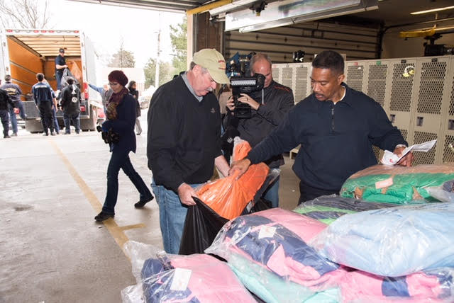 - By: John Domen, wtop.com Nearly 500 brand-new jackets are being given away to needy families in Alexandria as part of Operation Warm and Firefighter Coats for Kids, an endeavor started more than a decade ago that has expanded to hundreds of other fire departments around the country.The program was started by city councilman Willie Bailey and community outreach coordinator Michael Johnson, who grew up together in Alexandria. Bailey is now a battalion chief with the Fairfax County Fire Department.