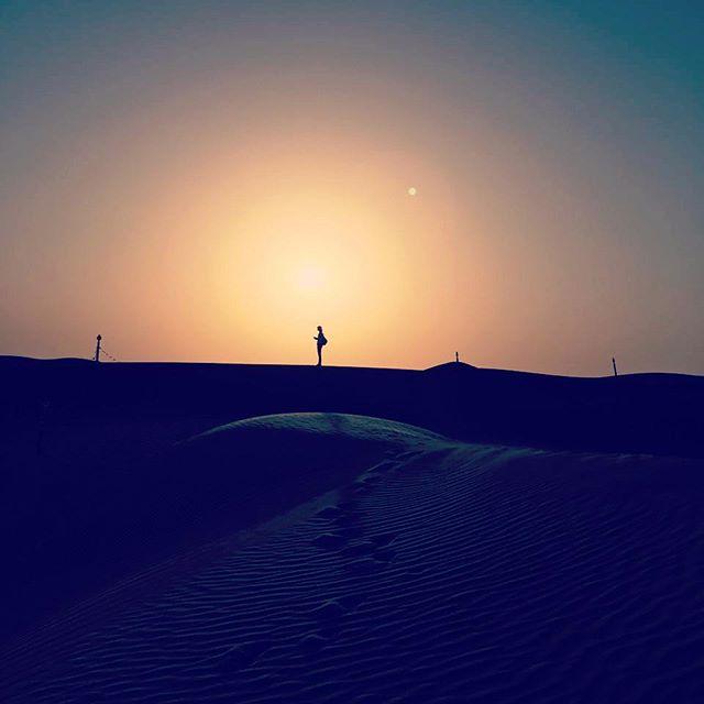 You can't beat a desert sunset