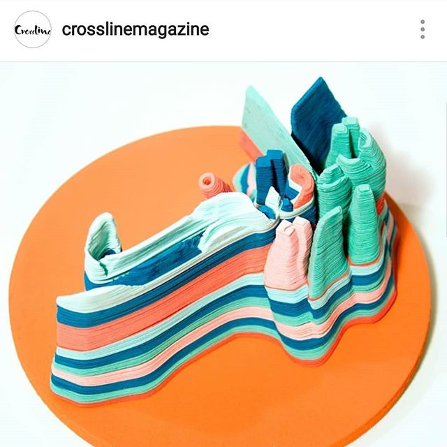 It was a pleasure being interviewed and featured by @crosslinemagazine 💜💙💚💛 Check out all the interesting artist they're talking to