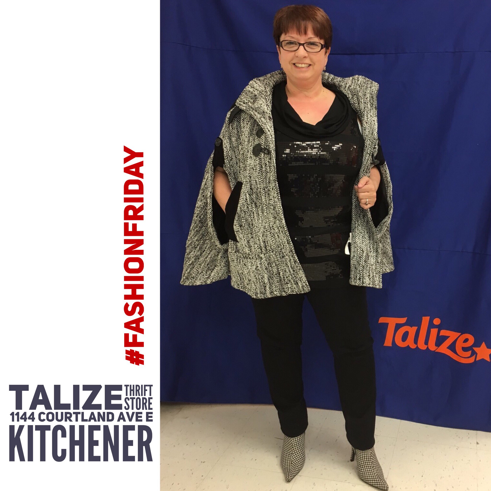 talizethrift Colour blend shoes to jacket, keep jacket at the top hip - Reitmans top / Costa Blanca jacket / George shoes  #fashionfriday  #talizekitchener  #talize  #thrift  #thriftstorefinds  #style  #fashion  #shoes