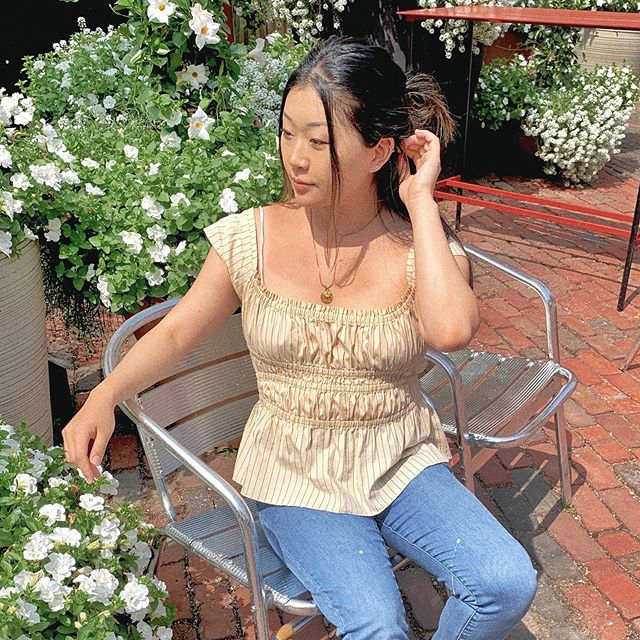 @thereshegoesyt been thrifting all sorts of cute summa clothes like this top from @Talizethrift 👚  On Friday, July 19th we'll be doing a big 50% off sale on all tops! So get your #thrift on 🤗 #Talizetreasures #talize