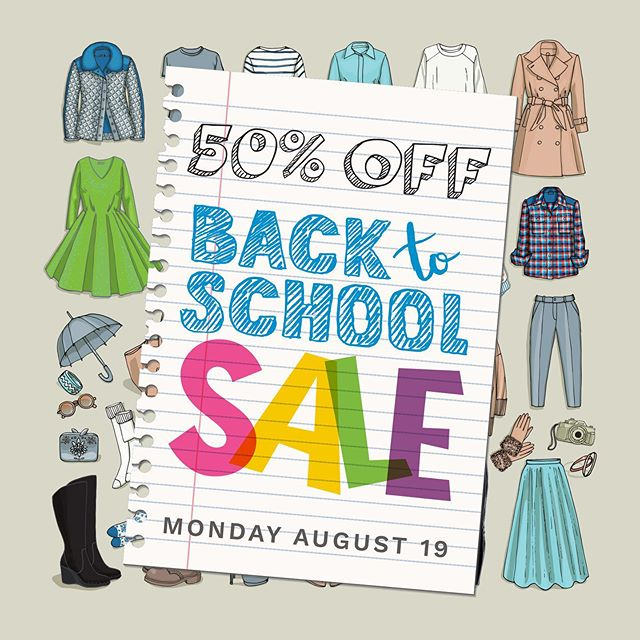 Getting ready for school? Here's Back to School Sale at Talize! Enjoy 50% OFF Entire store, next Monday, August 19, 2019. Happy Shopping!#talize #talizetreasures #backtoschool #sale