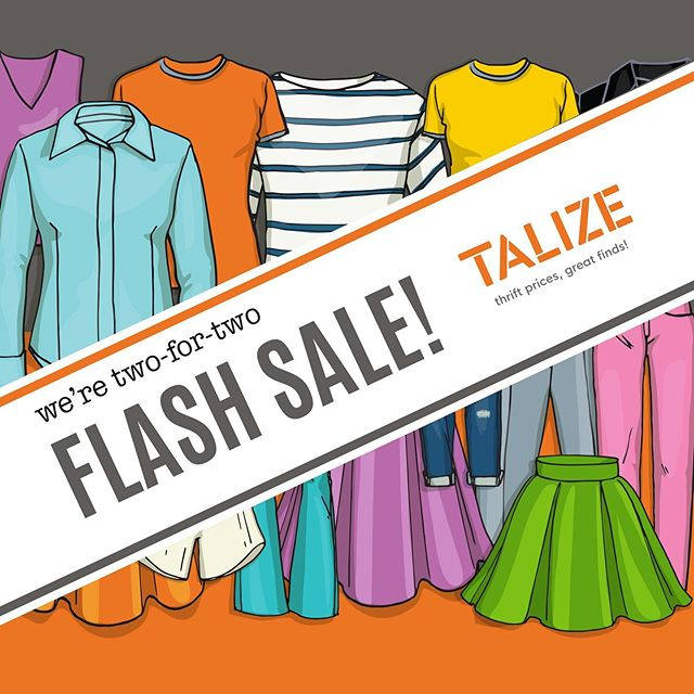 Psst... Ready for a surprise? We're two-for-two⚡�⚡�This Friday, August 23 get 50% OFF All Tops 👕and on Saturday, August 24, 50% OFF All Bottoms👖!! #talize #talizetreasures