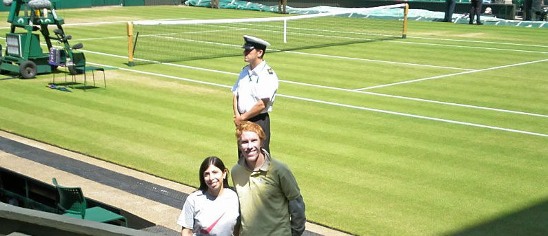 As close as possible to Wimbledon's Centre Court