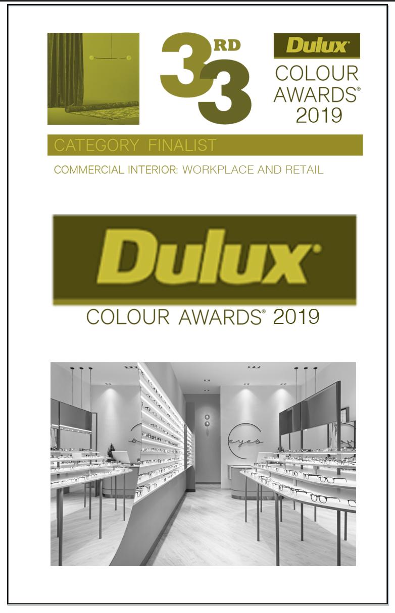 DULUX COLOUR AWARDS - Category Finalist | Eyes Optical - Kotara | Retail