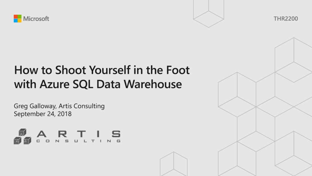 How to shoot yourself in the foot with Azure SQL Data Warehouse