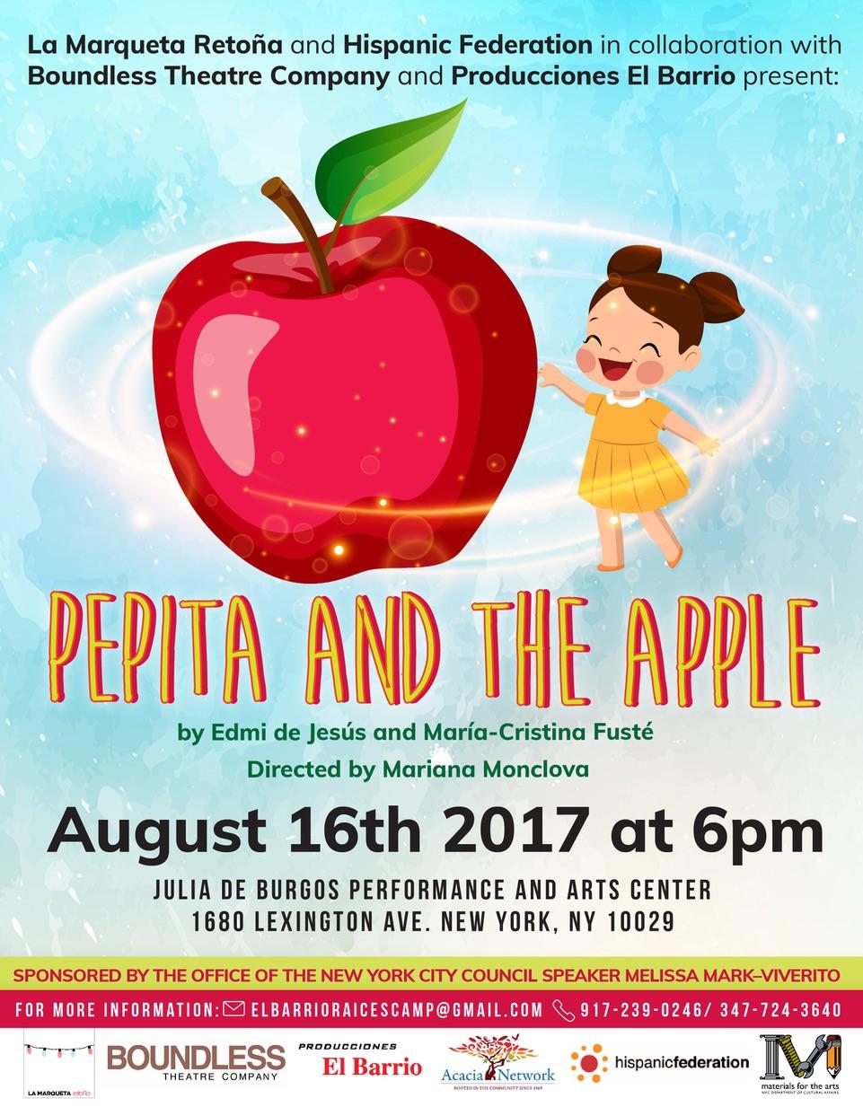 Pepita and the apple.jpg