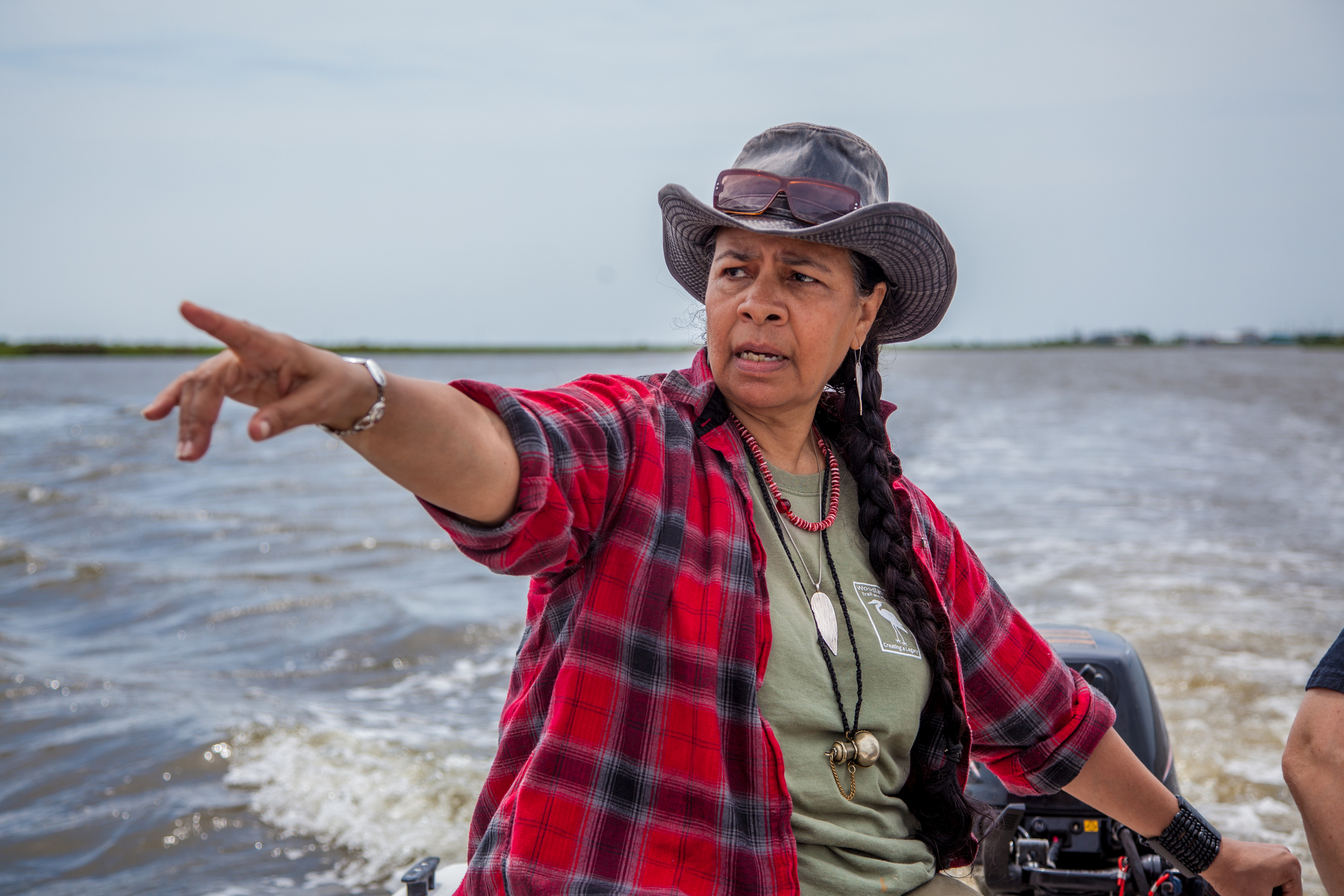 """My people have been in Grand Bayou for the last 1500 years. We eat from the land and the waters just as our ancestors did. Our DNA is in this soil. It goes beyond the physical, its a sense of being, a sense of belonging, a connection to the land, to the environment, and to the universe.""   – Ms. Rosina Pilippe,  a member of the Atakapa-Ishak Tribe or ""The Sunrise People"""