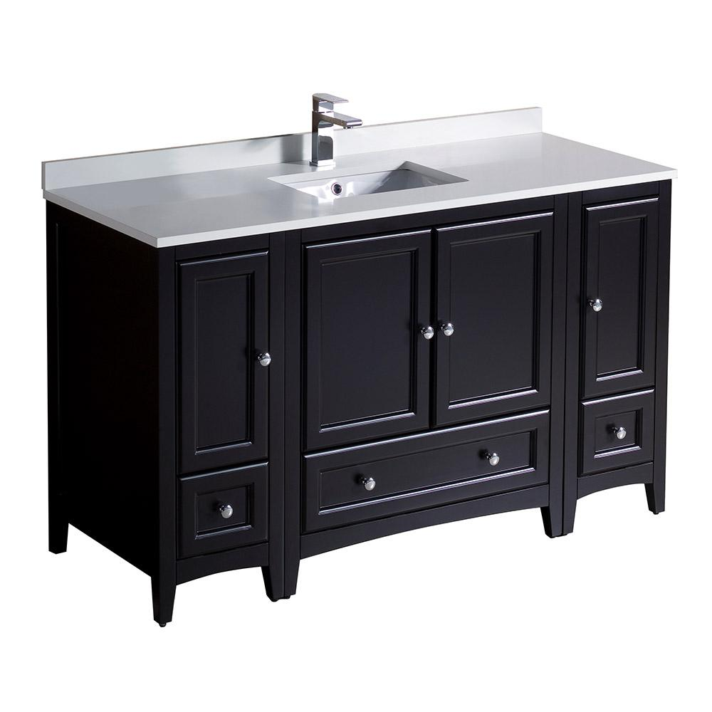 https://www.homedepot.com/p/Ari-Kitchen-and-Bath-Marina-55-in-Single-Bath-Vanity-in-Driftwood-with-Marble-Vanity-Top-in-Carrara-White-with-White-Basin-AKB-MARINA-55DW/309455096