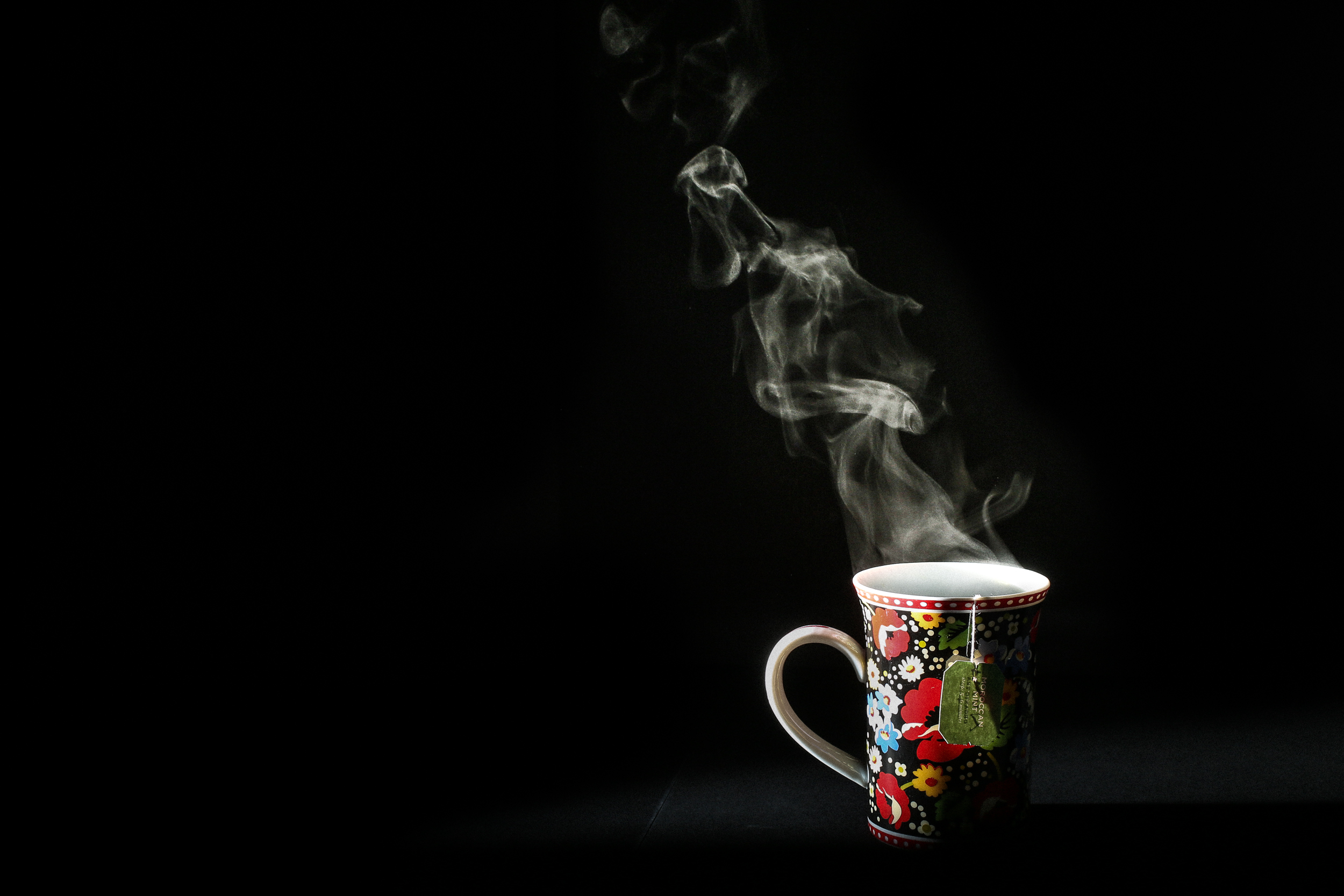 Water. Tea. Steam.