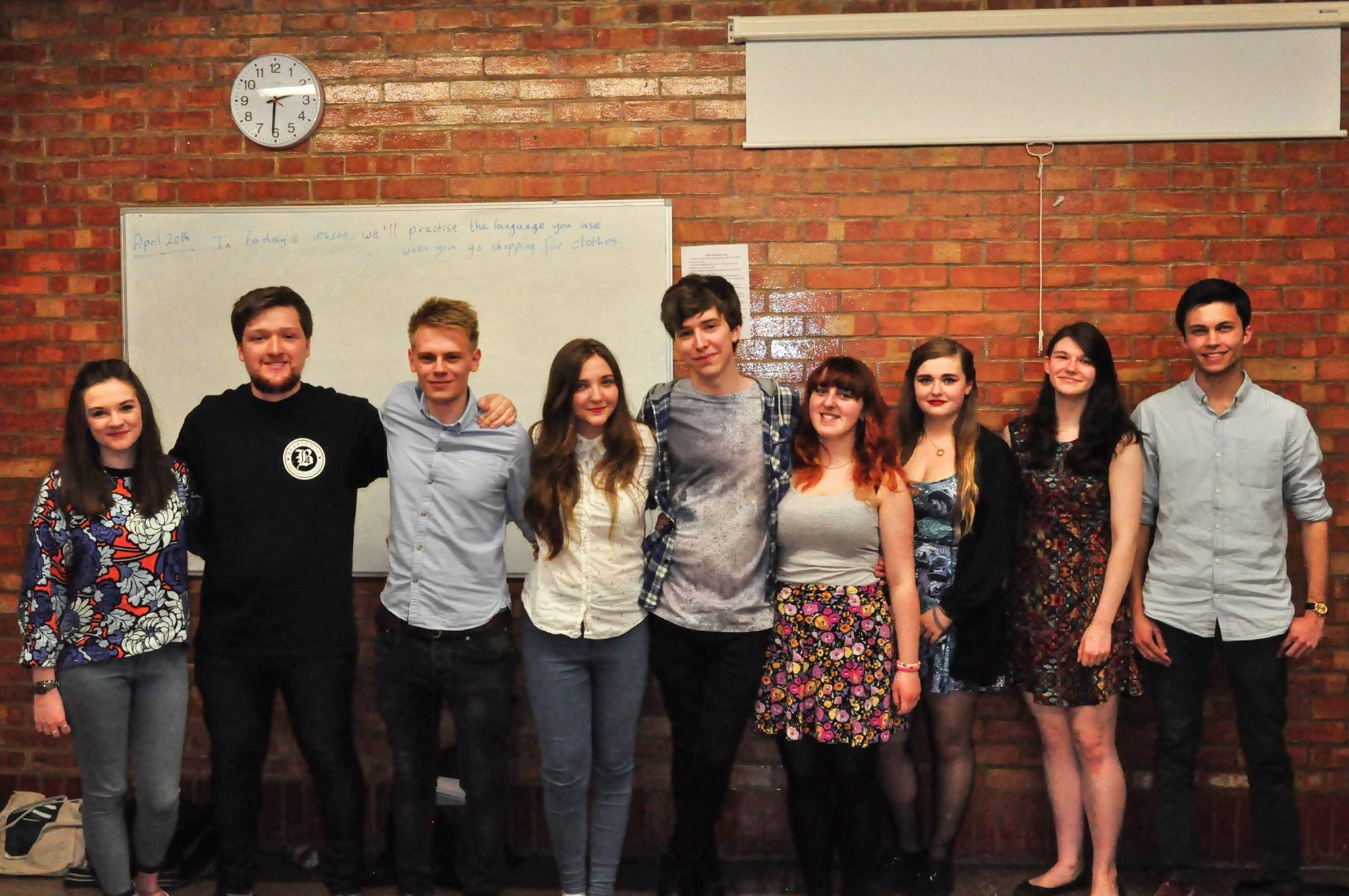 The recently elected pH7 committee – L-R: Ellen Smith, Josh Bolam, Harry Colman, Ashley Carley, Joey Relton, Charlotte Perry, Lauren Nuttall, Ella Hubber and Dan Ravenscroft.