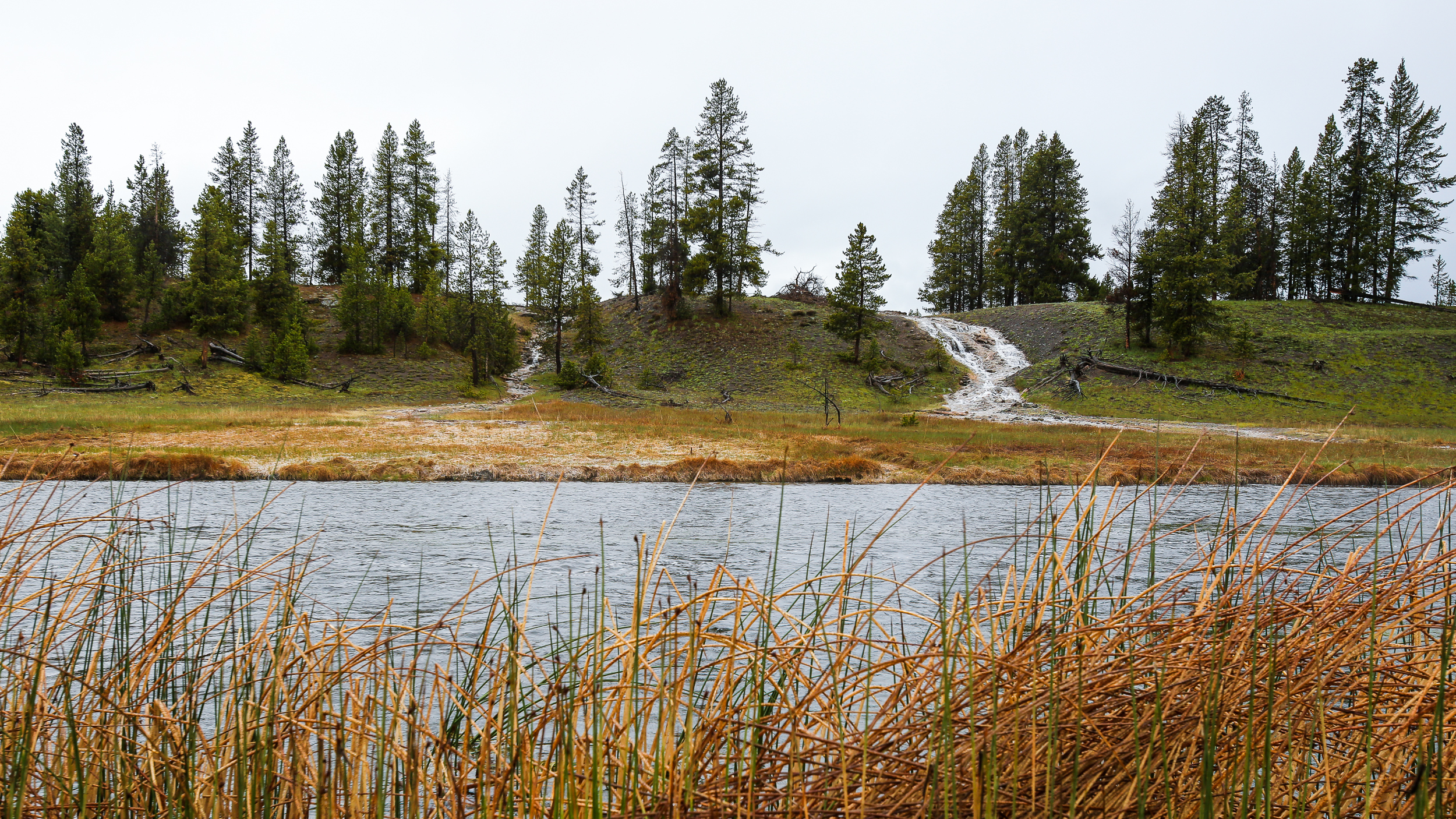 Run-off into Firehole River