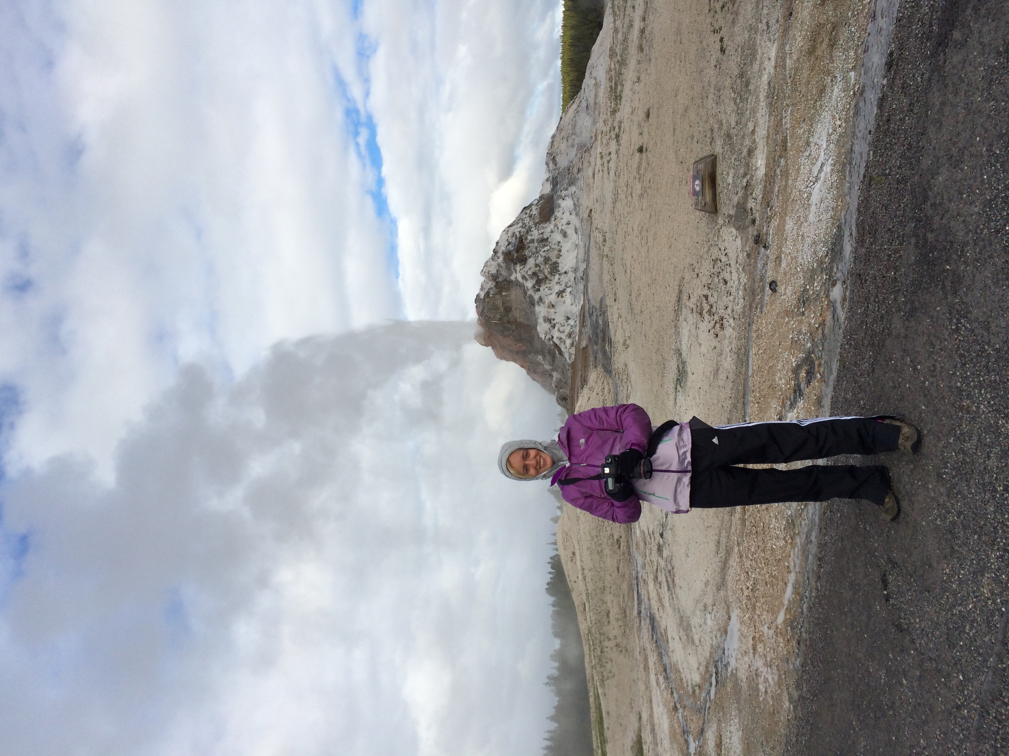 Me at White Dome Geyser