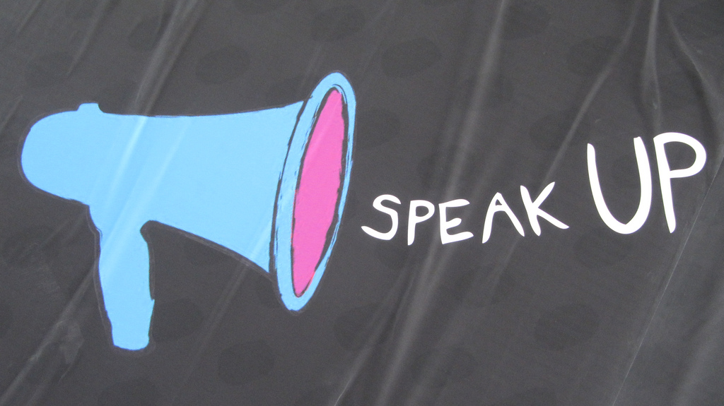"""Women may be judged more harshly for """"speaking up"""" than men are. Image: Howard Lake, Flickr.com"""