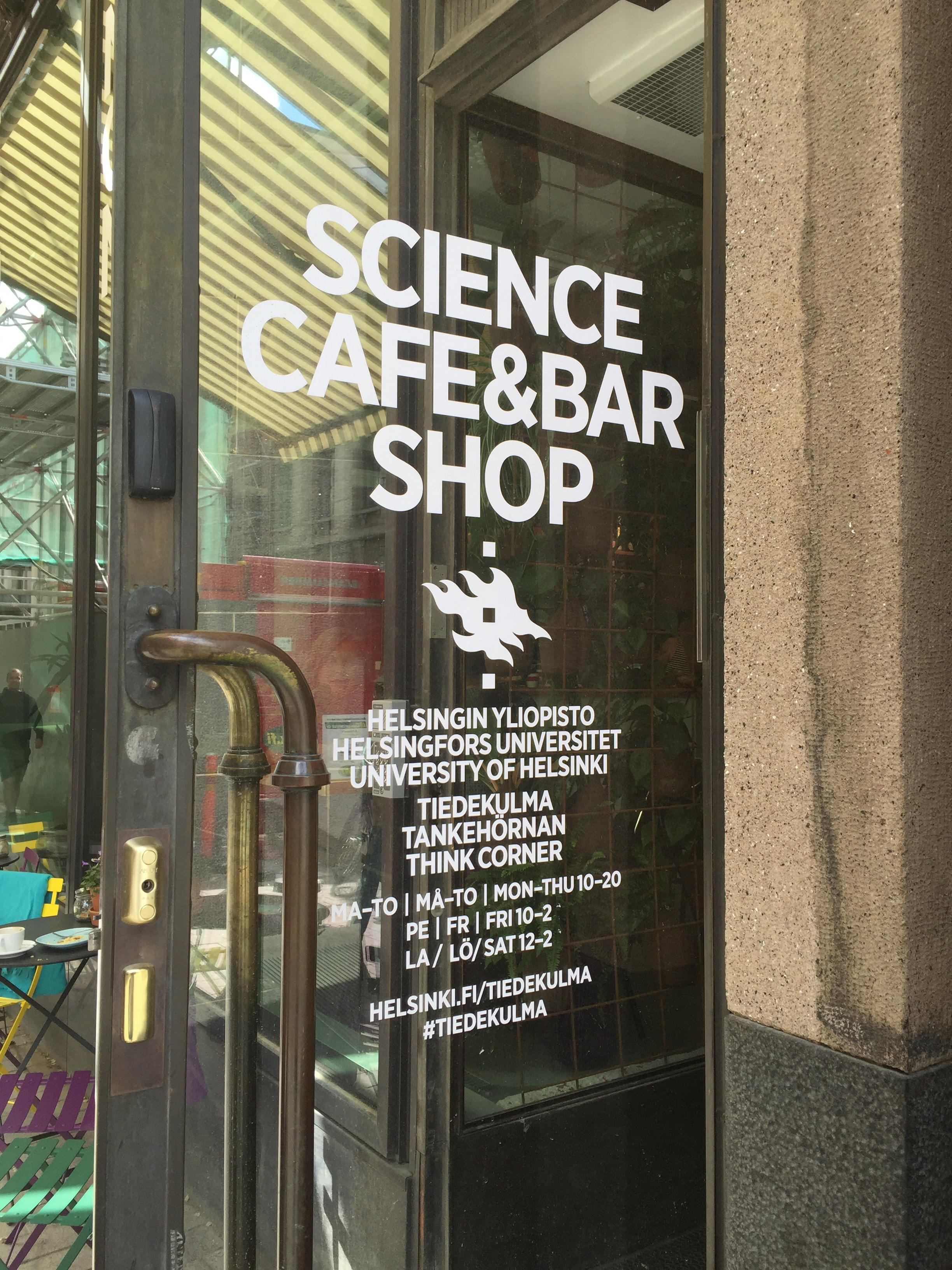 Science Cafe in Helsinki, Finland.