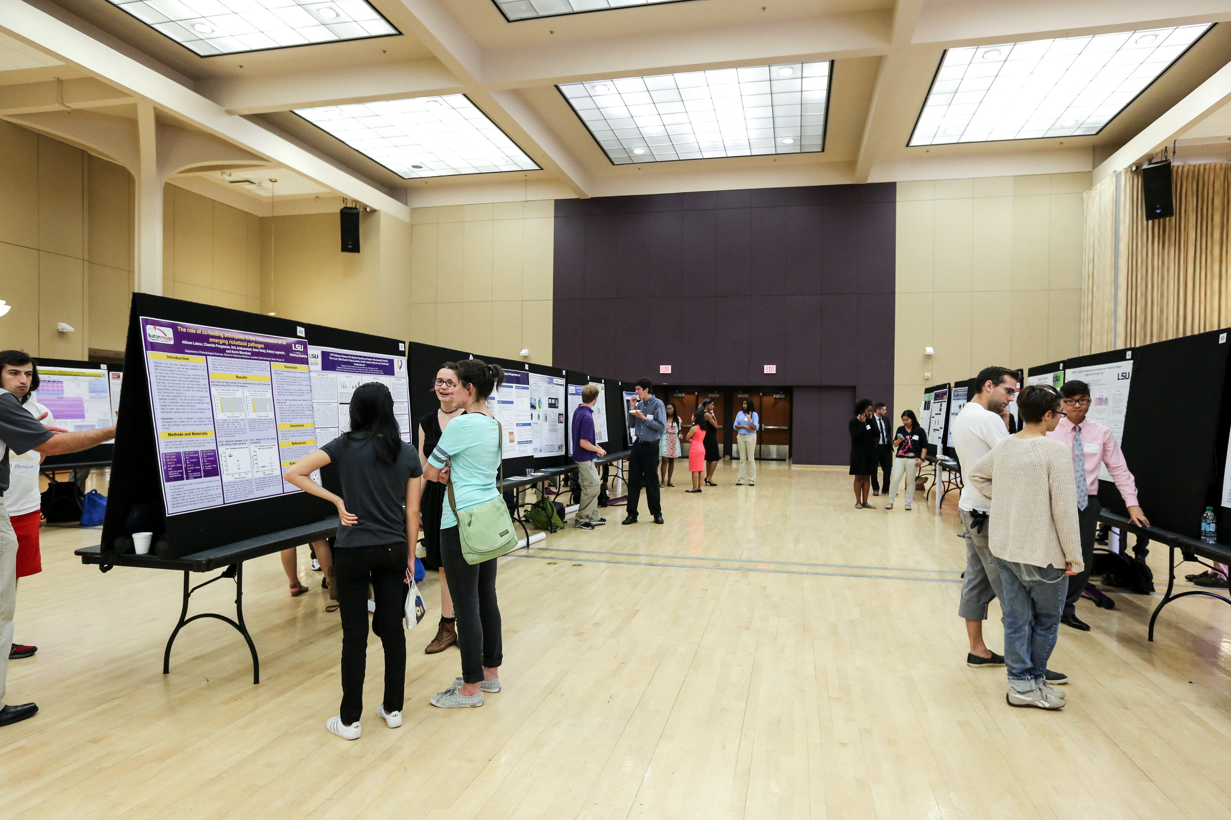 Undergraduate students present their research at LSU. Photo credit: Paige Jarreau.