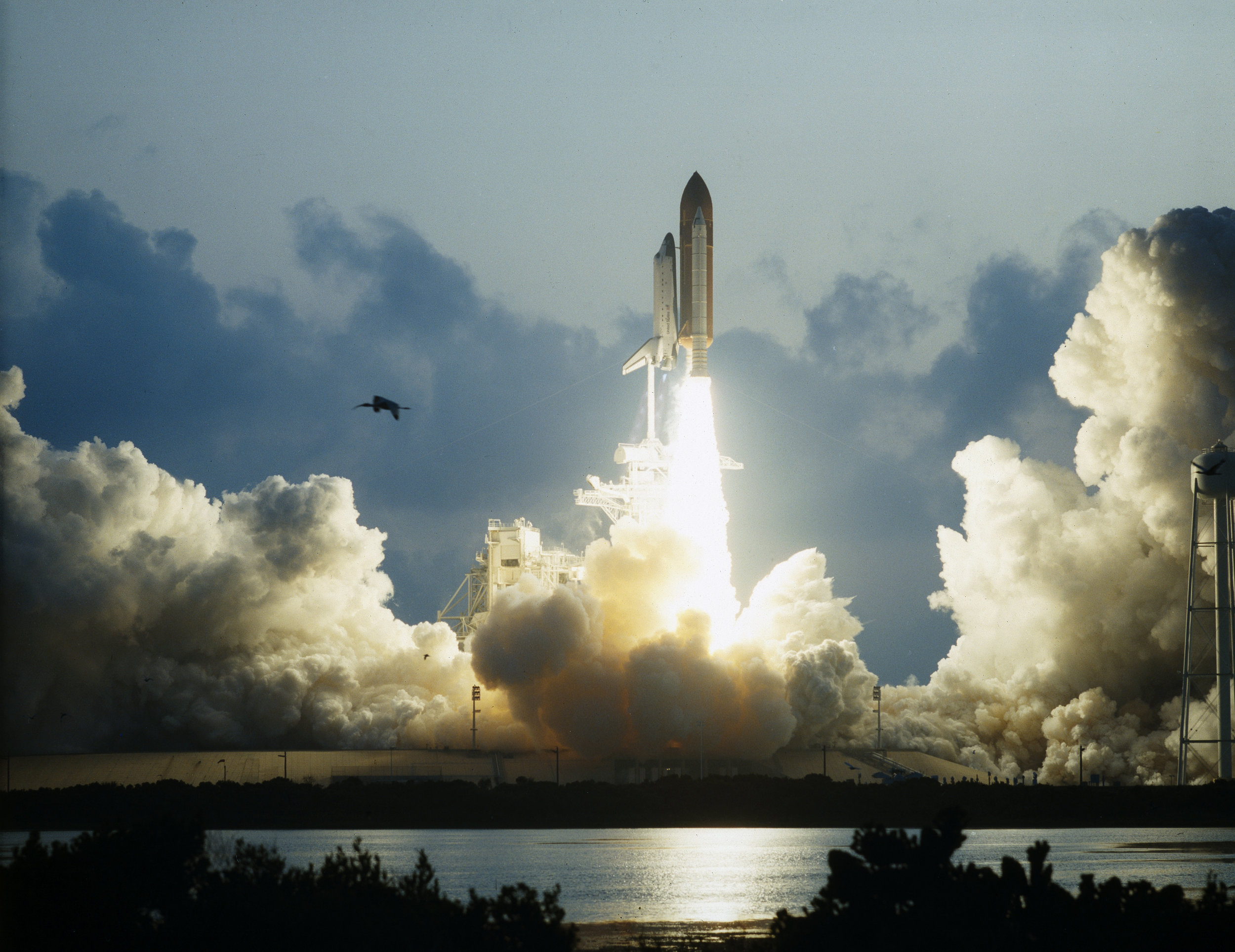 First Flight of Space Shuttle Endeavour Launches -- May 7, 1992. Credit: NASA.