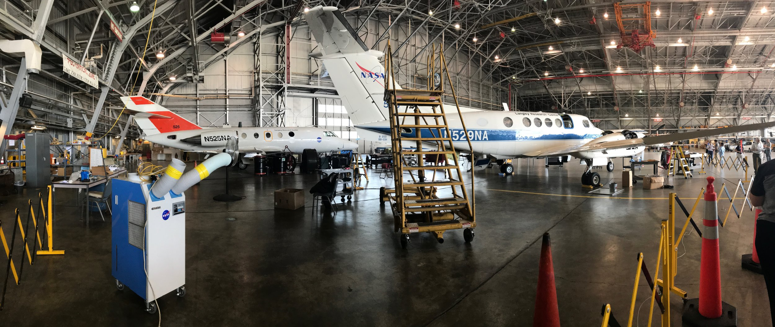 NASA aircraft used for earth science research. Credit: Paige Jarreau.
