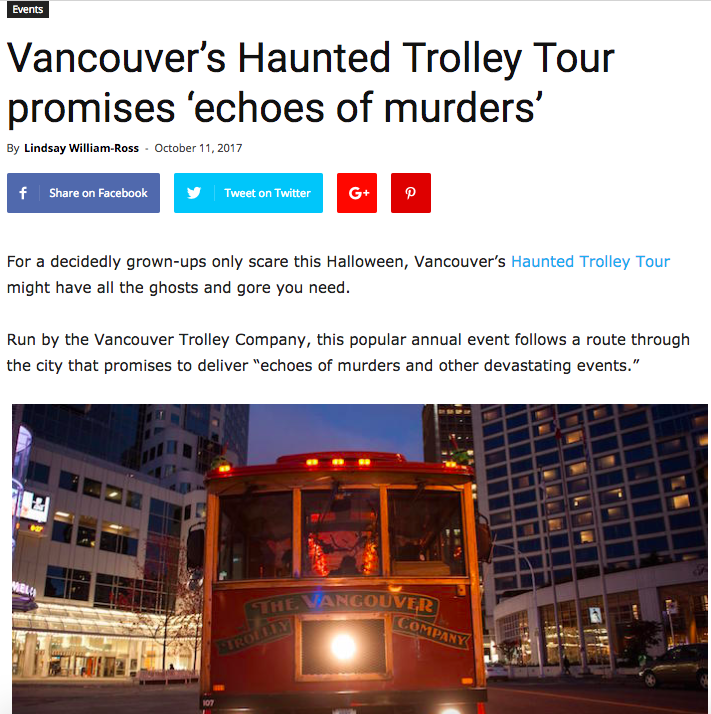 Vancouver is Awesome | Vancouver Haunted Trolley Tour  | Client: Westcoast Sightseeing