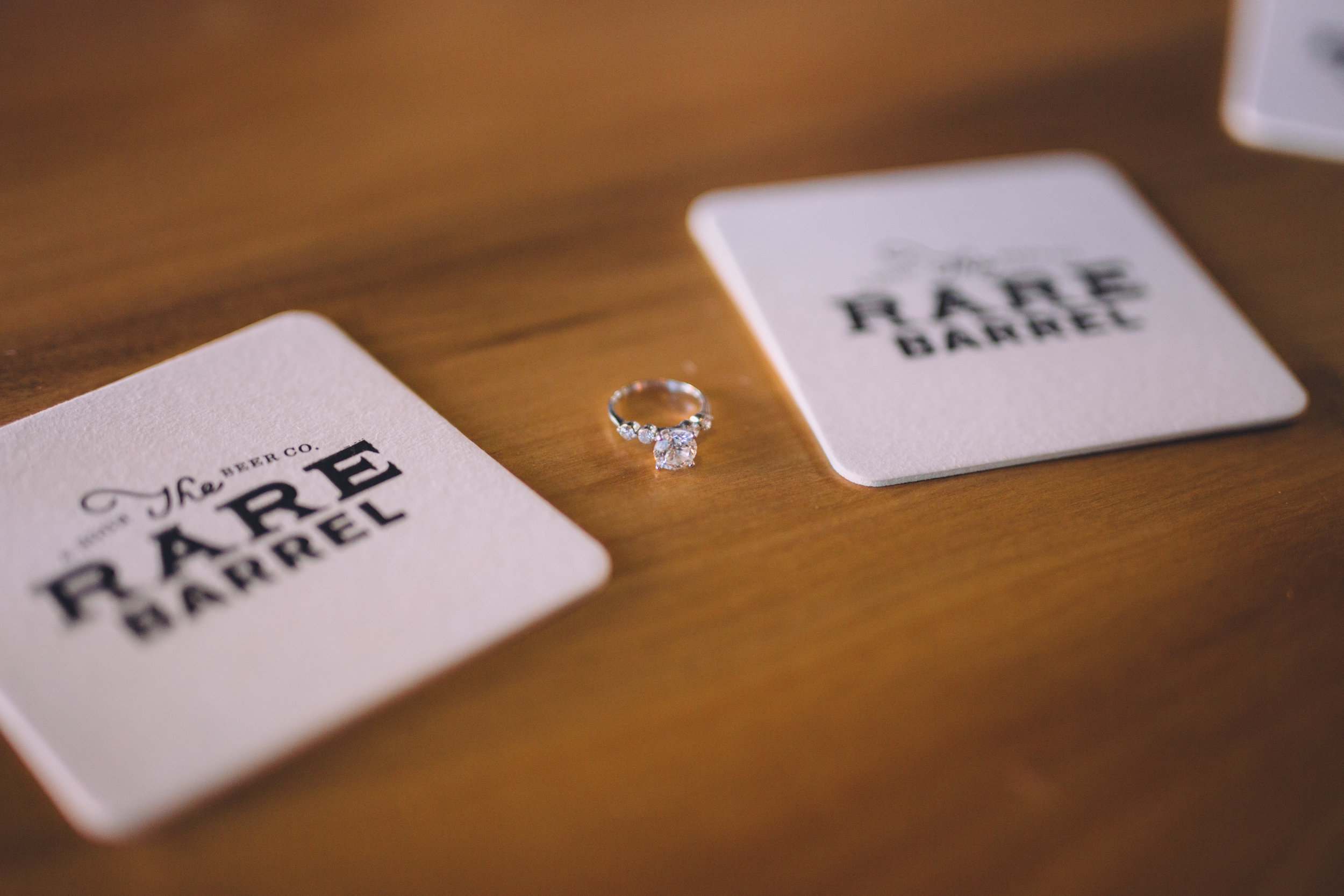 Ring Shot with the coasters