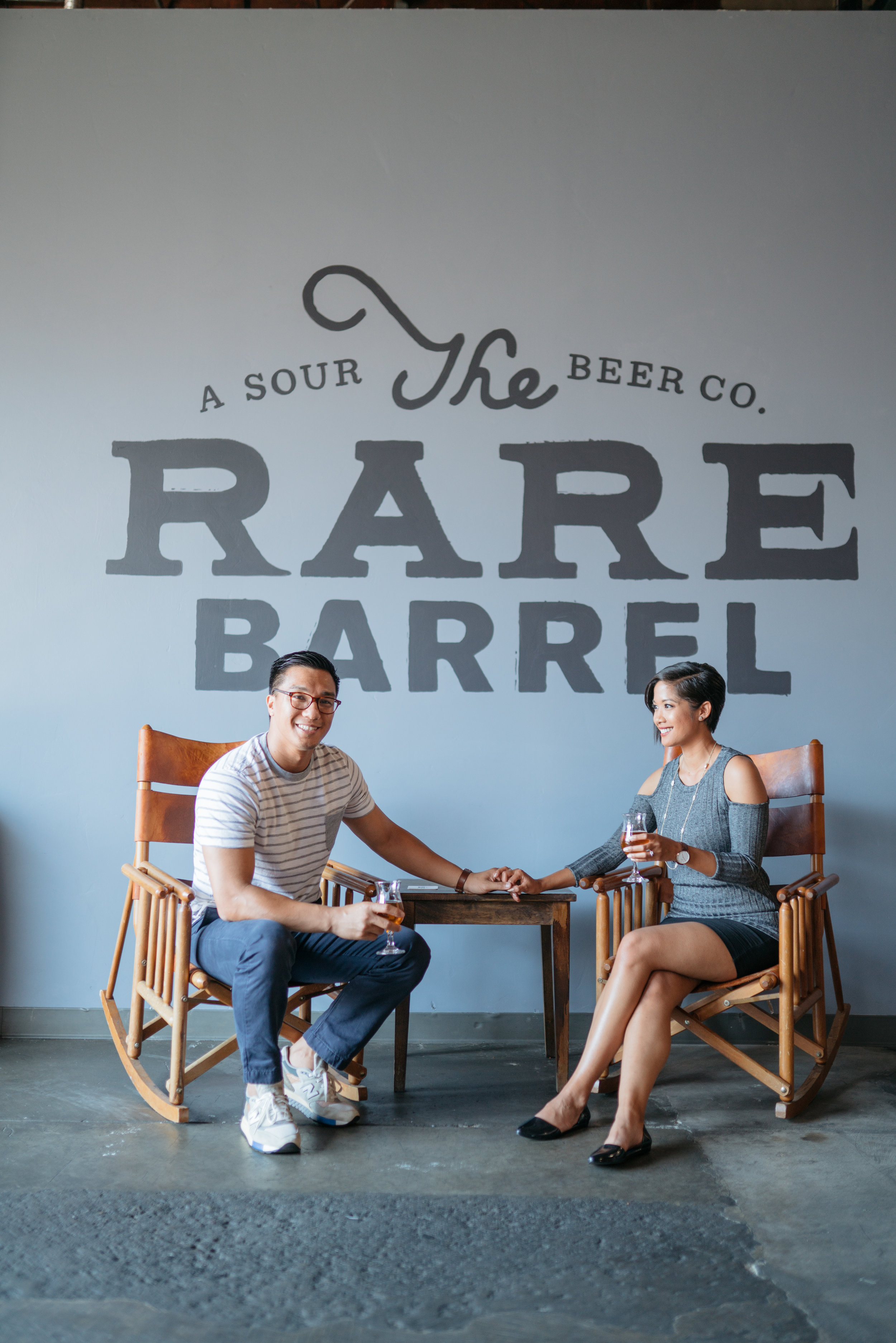 This is obligatory - sitting down in front of the Rare Barrel sign