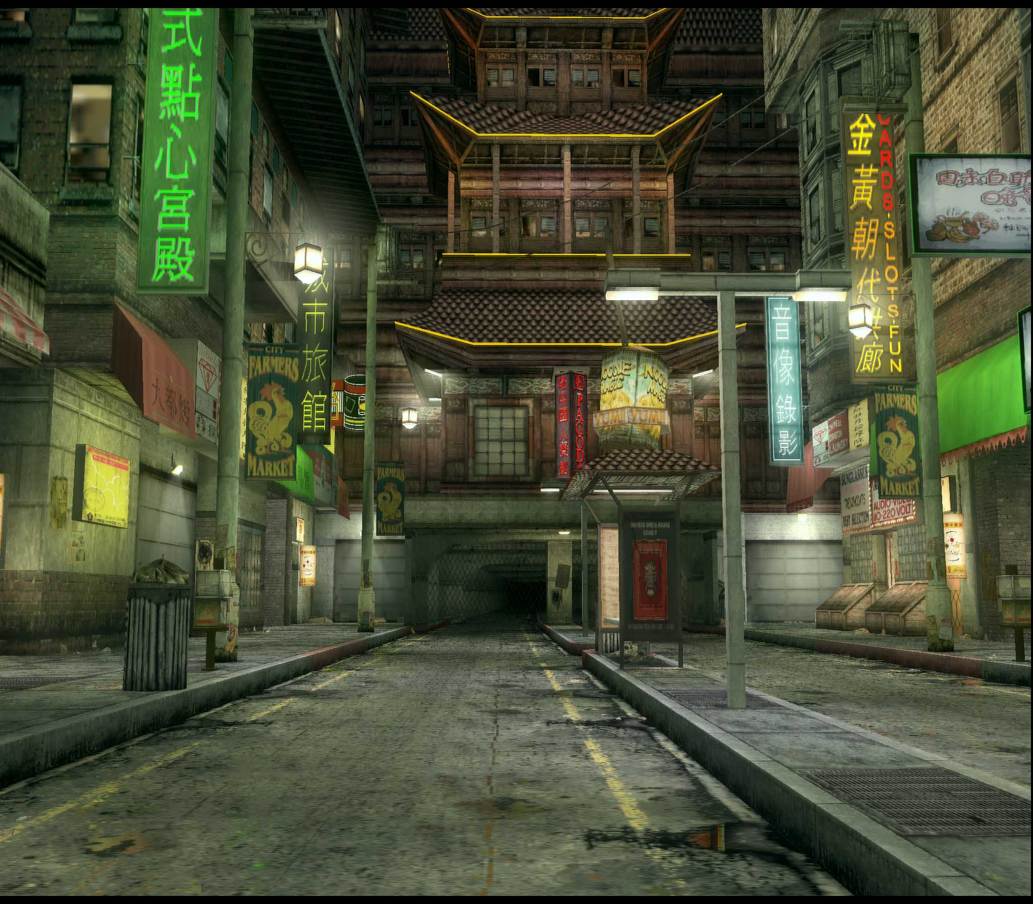 Chinatown Street - The Matrix Path of Neo