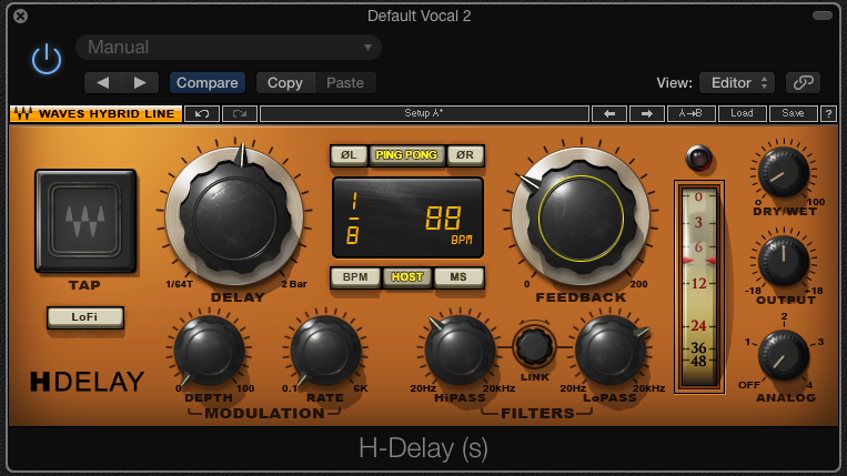 Waves H-Delay is a great plug-in choice
