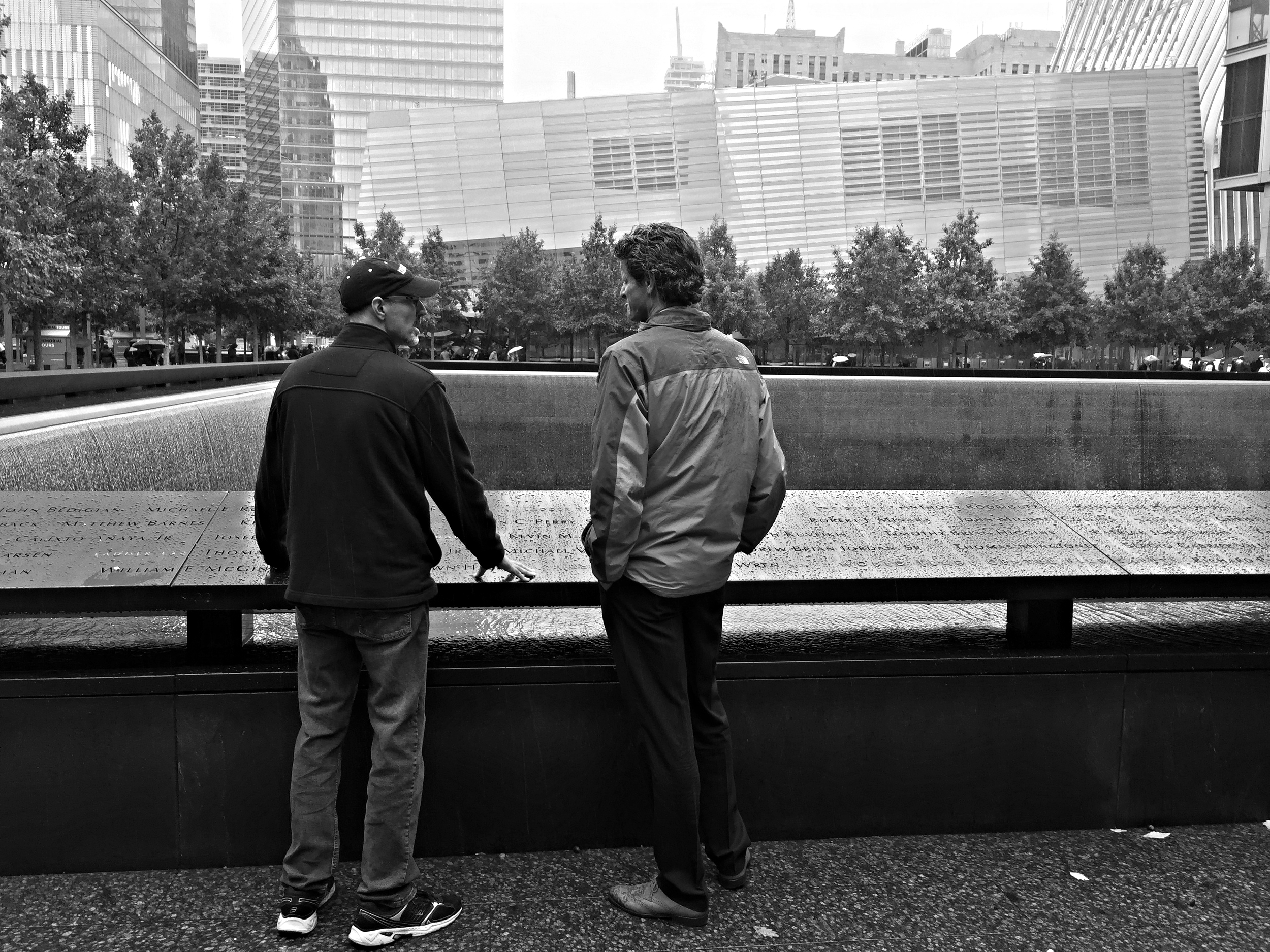 (above) Remington Scott and John MacInnes at the 911 Memorial Museum, NYC. 2015