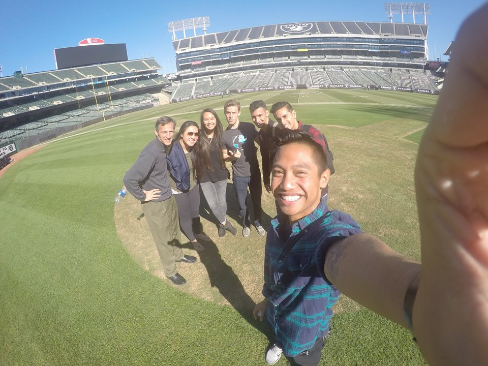 The Sports Committee Touring the Oakland A's Stadium