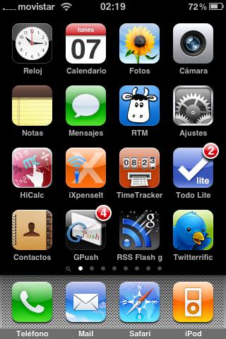 Pantalla principal iPhone lboisset