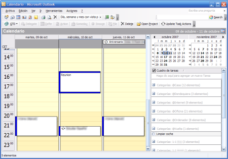 Mi centro de control en Outlook