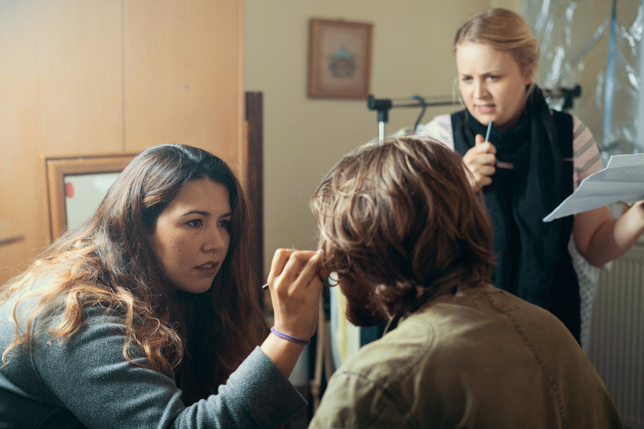 Hair and Make Up Designer Monica Montalvo and Costume Designer Sammy-May Buxton