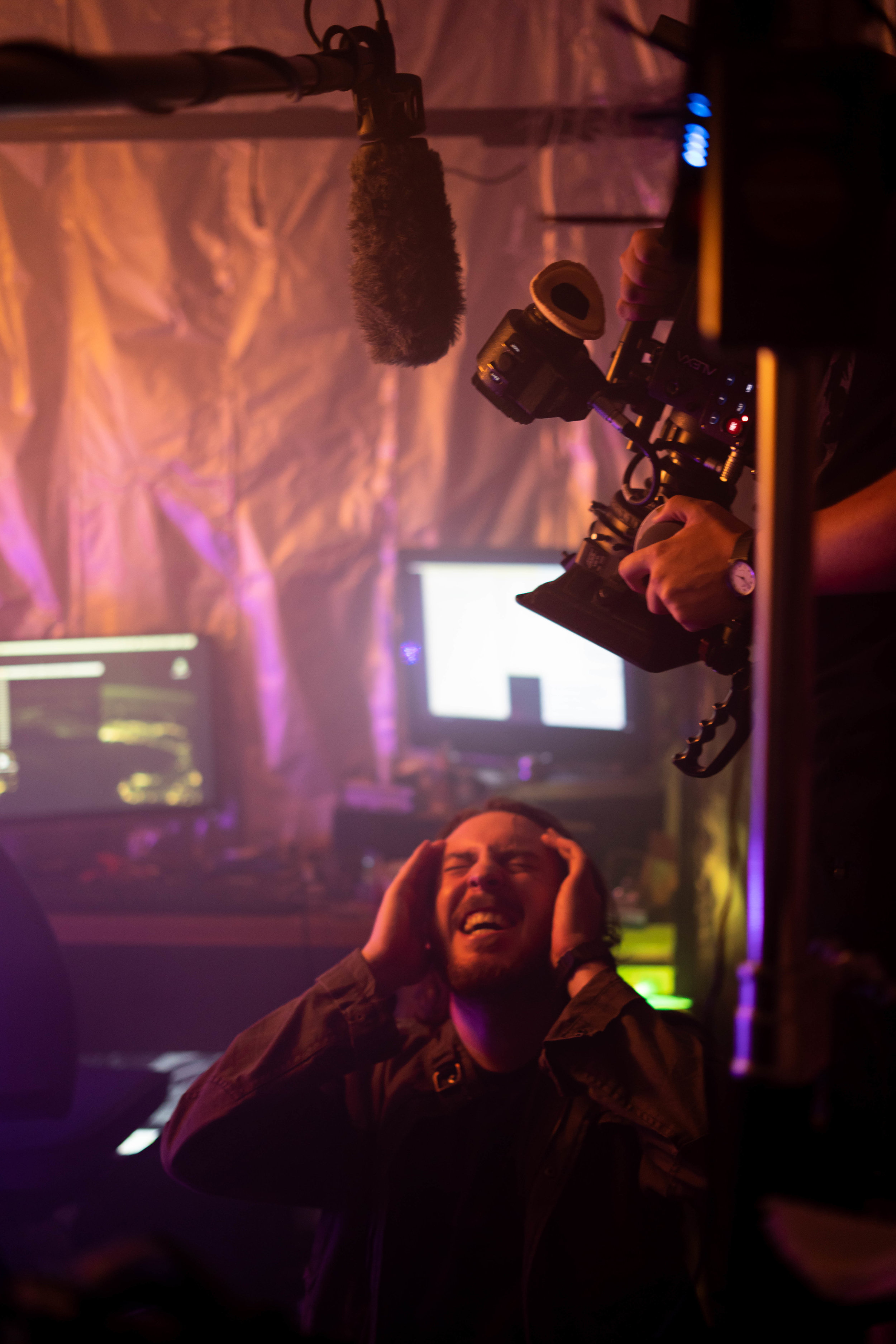 Thomas Beatty as Leo in one of the more intense scenes in Connective Tissue