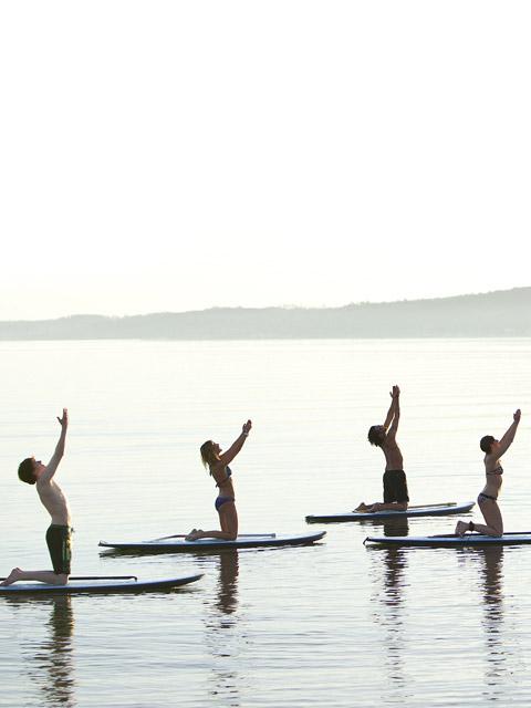Aquaphysical -paddle board yoga classes.