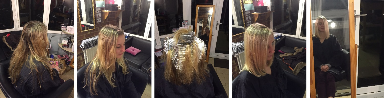 The lob - Restyle, whole head highlights with bleach and highlight blondes