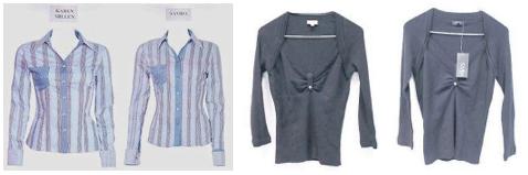 Obrazové přílohy ve věci Karen Millen Fashions v. Dunnes Stores