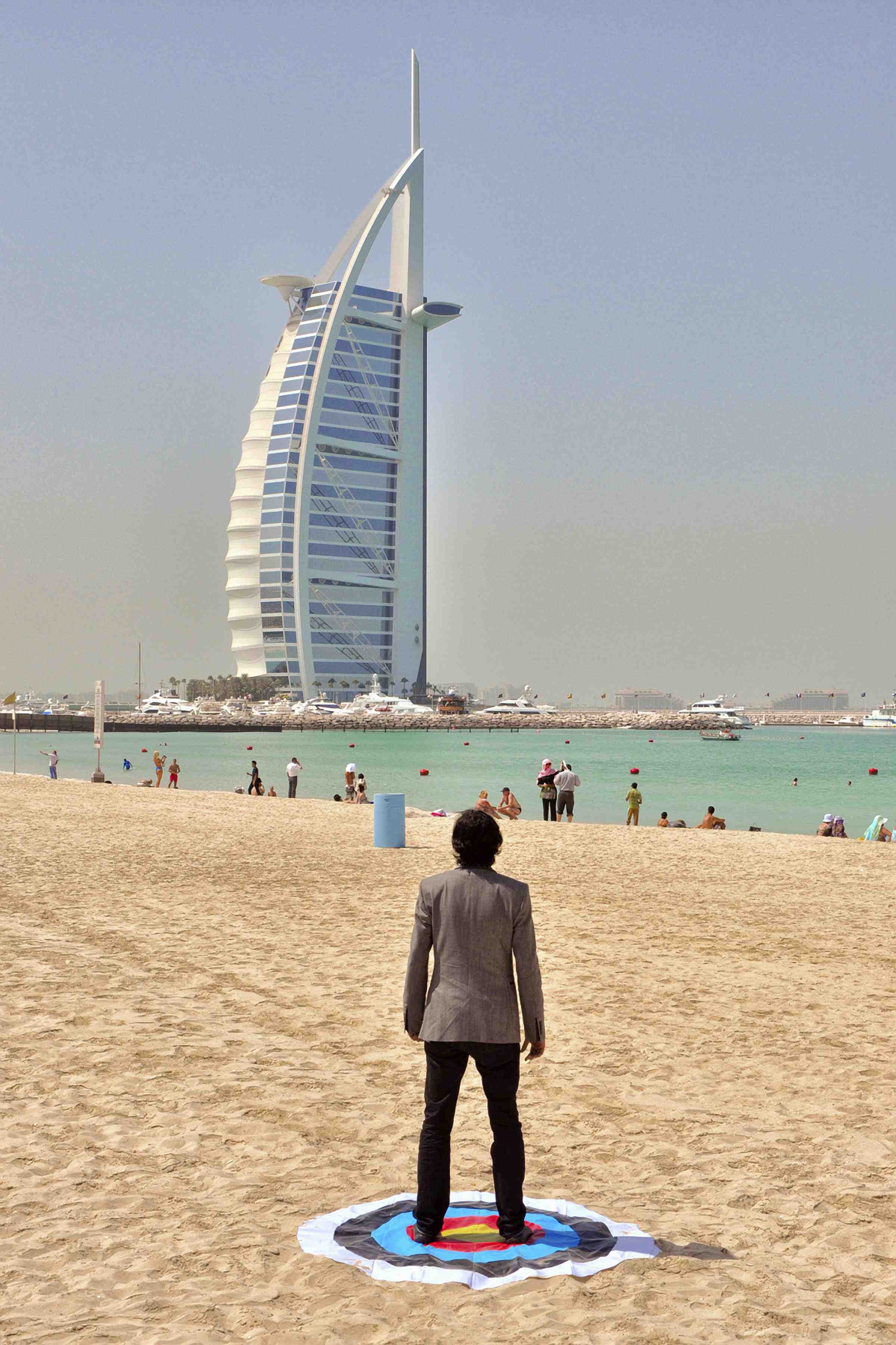 Soft Target: Burj Khalifa, Al-Safa Park, Dubai, 2012, UV Inkjet Print, photograph taken by Adeel-uz-Zafar