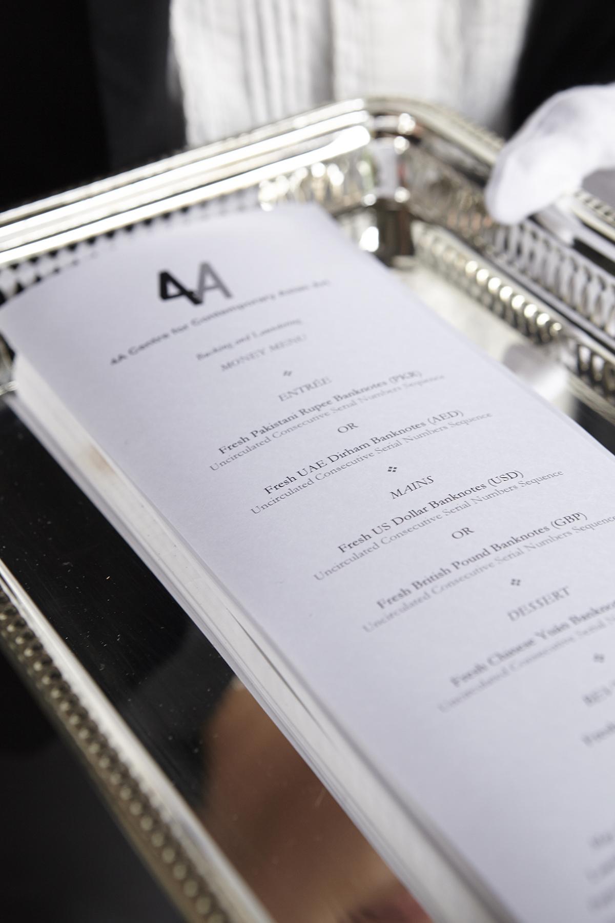 Bucking  menu and information card