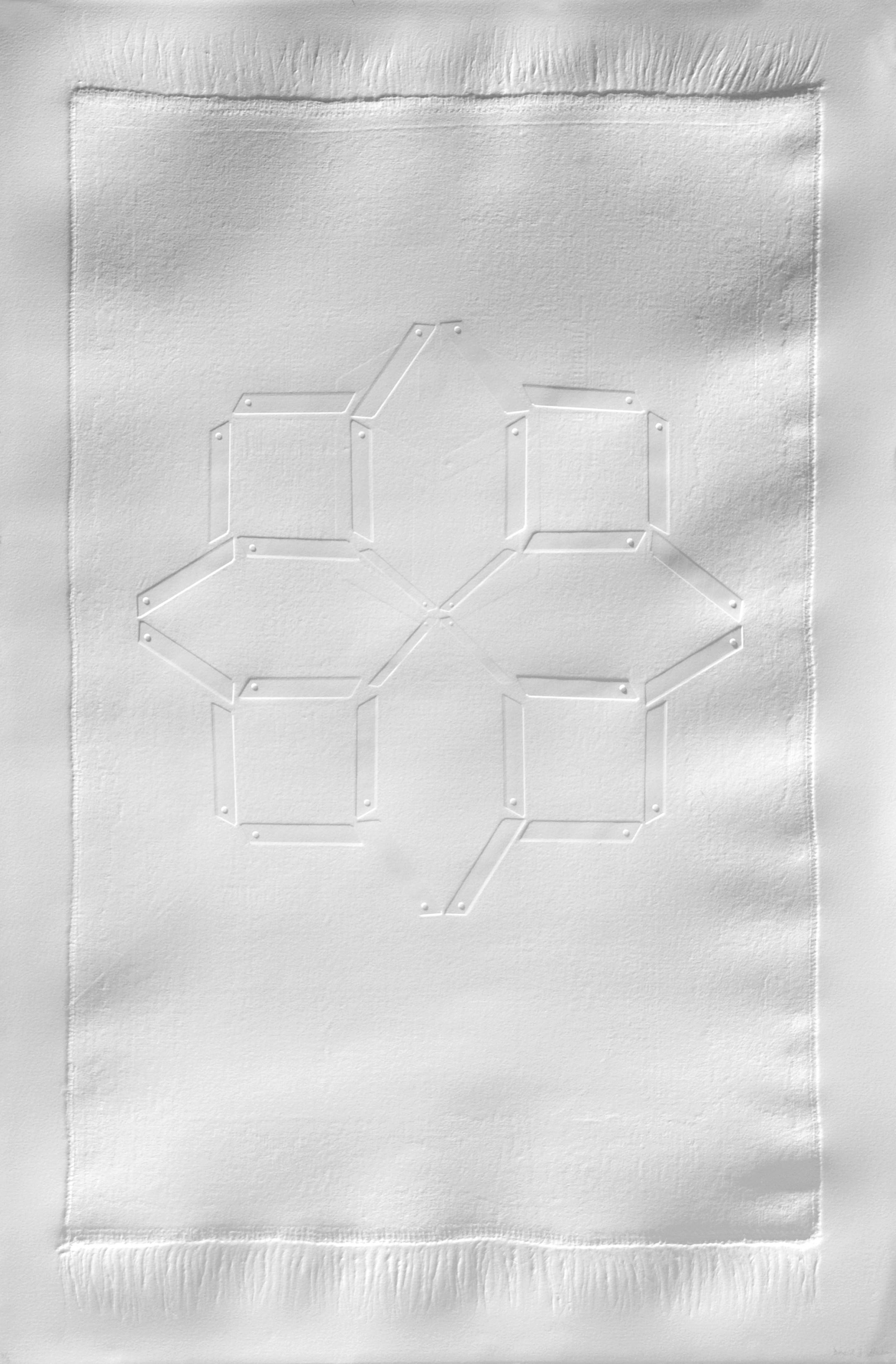 Devoid II (2009),Emboss on BFK Rives paper, 76 x 120 cm