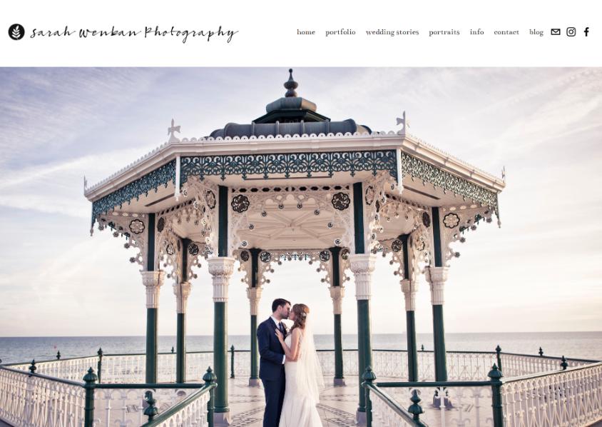 Sarah Wenban Photography - Blanco Digital Studio Website Design