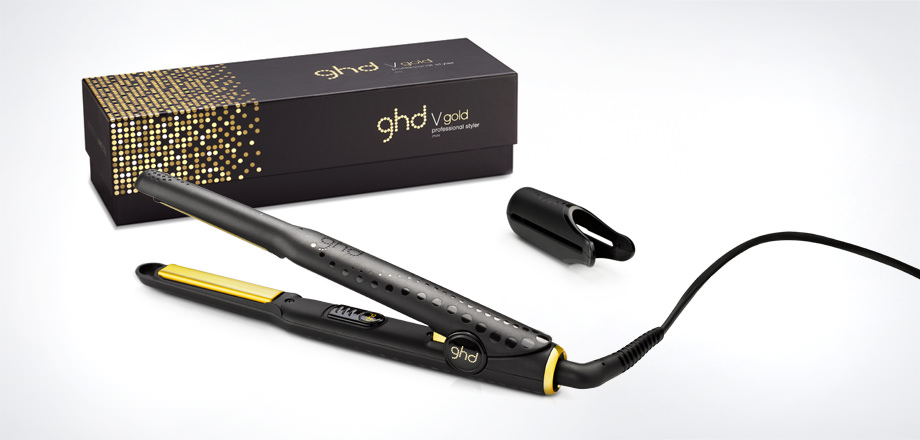 Glimmering gold accents and plates and an enhanced design make this ghd V gold mini styler the luxe option for shorter hair -