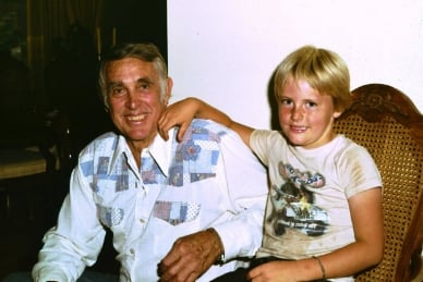 The author and his granddad, 1981