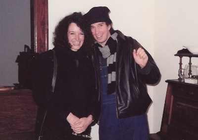 The author with her friend, Mark in 1990