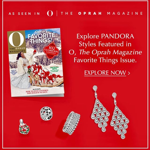 Get Pandora Styles featured in The O Magazine At Lucy's! Make them your Favorite too!! #pandoraearrings #christmas2017