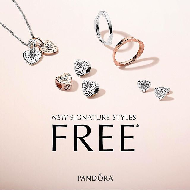 Now through April 15th, when you spend $125 on PANDORA you'll receive a FREE select NEW SIGNATURE STYLE! (Up to $70 value) Visit us at LUCY's  for more details.