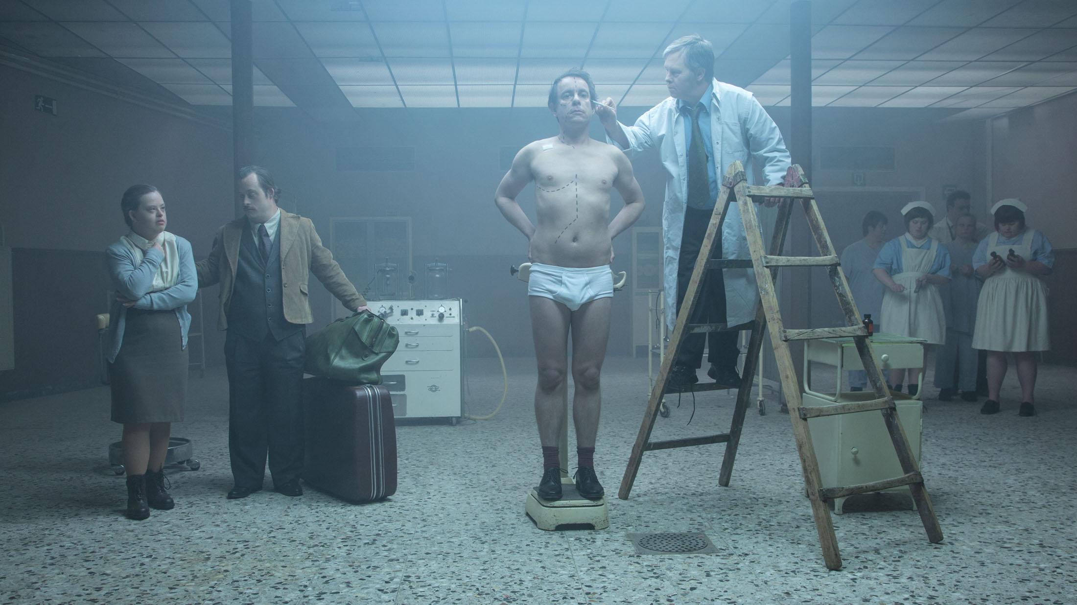 Nico Sturm, Tineke Van Haute & Peter Janssens in DOWNSIDE UP directed by Peter Ghesquiere - DoP Robrecht Heyvaert - Courtesy A-TEAM PRODCUTIONS