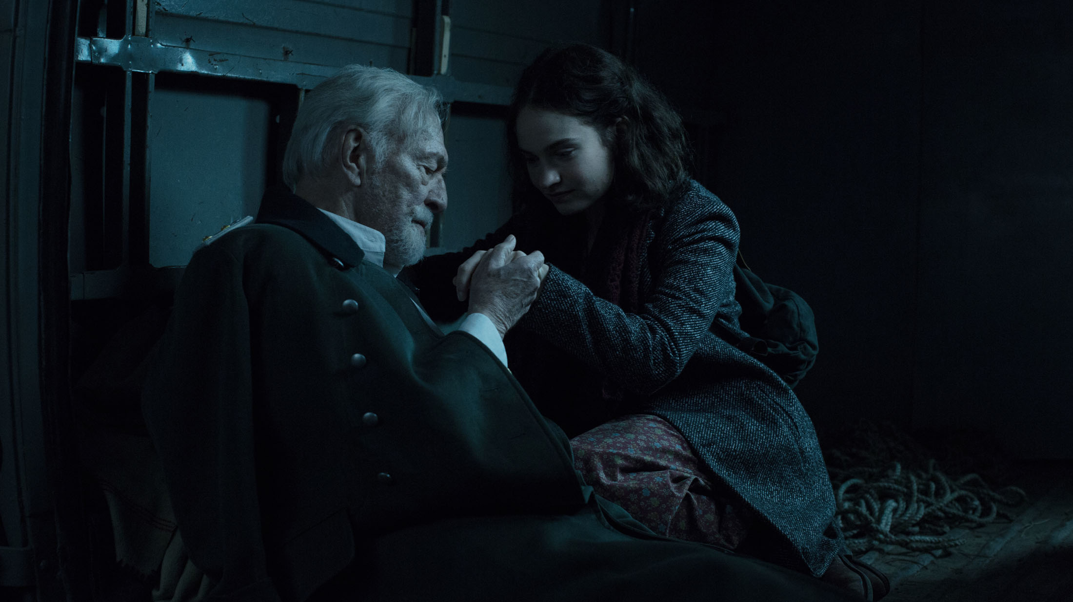 Christopher Plummer and Lilly James in THE EXCEPTION directed by David Leveaux - DoP Roman Osin. Courtesy Egoli Tossell Films/UMedia