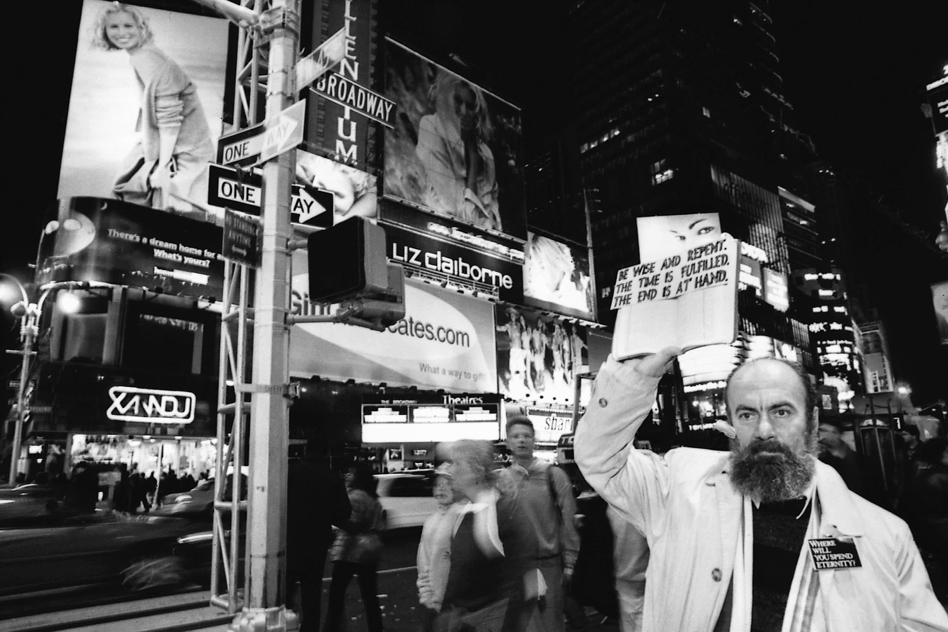 Be Wise and Repent. Joseph -Where Will You Spend Eternity- on Times Square, NYC