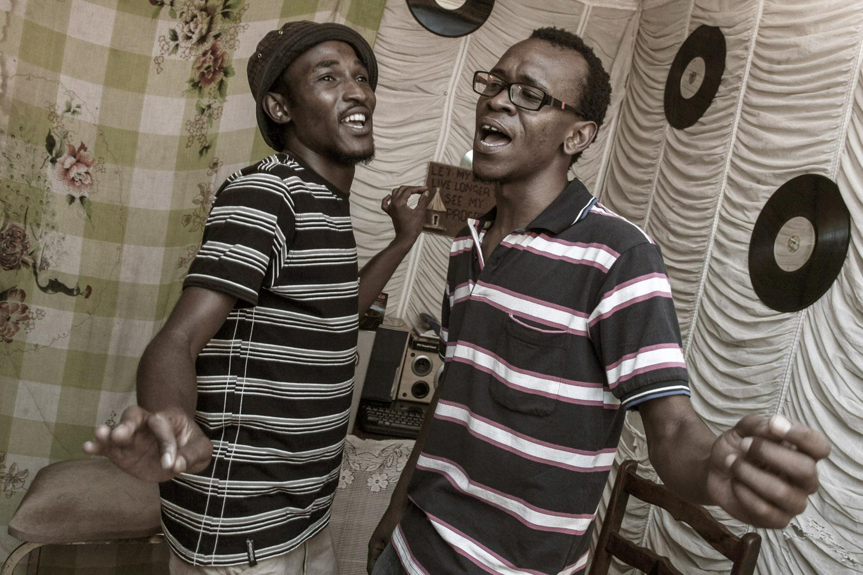 Karabo & Epic Article at their home studio, the Killjoy,  Rocklands (Bloemfontein)